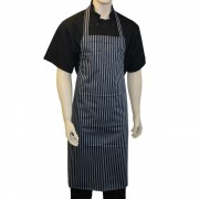 Butchers Waterproof Long Bib Striped Aprons, Made in England