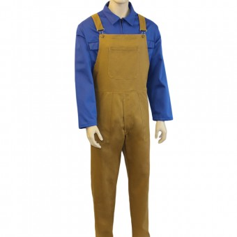 Bib and Brace Dungarees (Khaki), Made in England