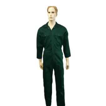 Coveralls Front Fastening with 7 concealed studs - PolyCotton, Made in England