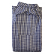 Chefs Unisex Trousers - Fully Elasticated Waist with Pullcord, Side Pockets & One Back Pocket, Made in England