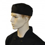 Chef Unisex Skull Caps with Elasticated Back (One Size) (Pack of 5), Made in England