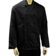Chefs Jackets with 10 removable Buttons - Long sleeves, Made in England
