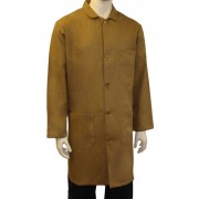 Khaki Warehouse Unisex Coat - Fastened with 5 buttons, Back Vent for ease of movement, Made in England