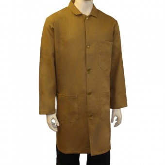 Khaki Warehouse Unisex Coat - Fastened with 5 buttons, Back Vent for ease of movement