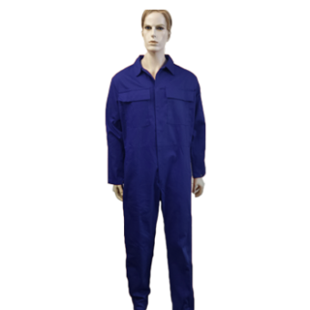 Coveralls Front Fastening with brass zip flame retardant, Made in England