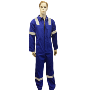 Coveralls Front Fastening with Hi-Visability Reflector Tape flame retardant, Made in England