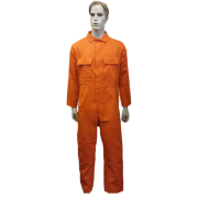Coveralls Front Fastening with 7 concealed studs flame retardant, Made in England