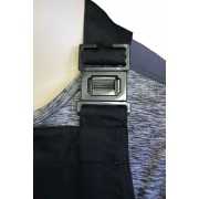 WSC Workwear Black Bib Apron with Secured Neck Strap Clip Fastening and Double Centre Pocket, Made In England