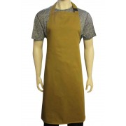 WSC Workwear Khaki Bib Apron with Secured Neck Strap Clip Fastening and No Pockets, Made In England
