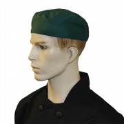 Chef Unisex Skull Caps with Elasticated Back (One Size) (Pack of 3), Made in England