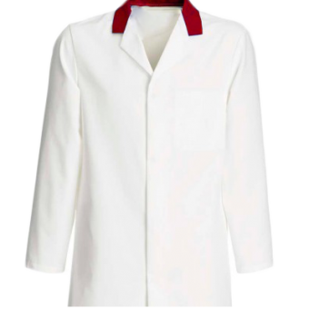 Catering Jacket with RED collar, Made in England