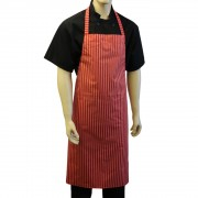 Butchers Waterproof Long Bib Striped Aprons