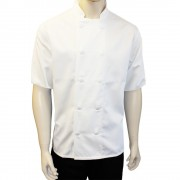 Chefs Jackets with 10 Buttons - Short sleeves, Made in England