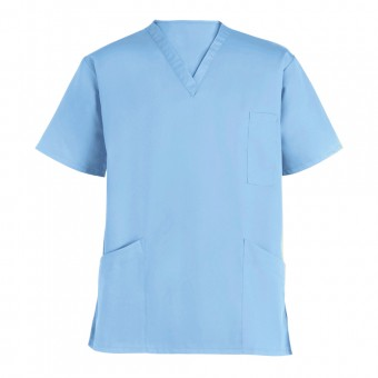 Hospital Unisex SCRUB TOP, Two Lower pockets & One breast pocket, Made in England