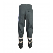 Polyester/cotton Trouser with Hi-Visability Reflective Tape, Back Pocket & Flap with 2 Concealed Studs, Made in England