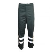Flame Retardant Trouser with Hi-Visability Reflective Tape, Made in England