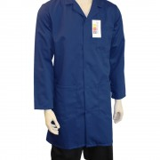 Warehouse Unisex Coat - Fastened with 5 Concealed Studs, Back Vent for Ease of Movement