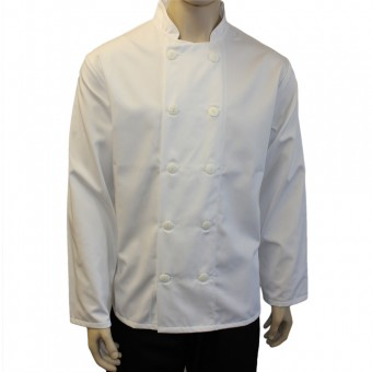 Chefs Jackets with 10 Buttons - Long sleeves, Made in England