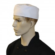 Chef Unisex Skull Caps with Elasticated Rear Panel (One Size) (Pack of 3), Made in England