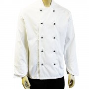 Chefs Jackets with 10 removable Buttons - Long sleeves