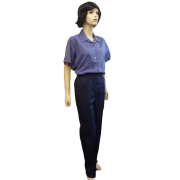 Chefs Unisex Trousers - Elasticated Back Waist, Side Pockets