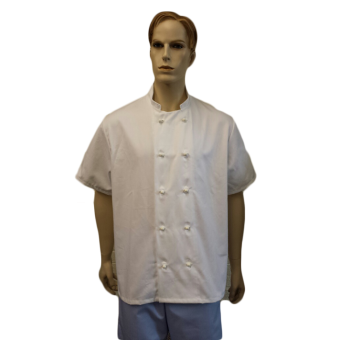 Chefs Jackets with 10 Removable Buttons - Short sleeves, Made in England