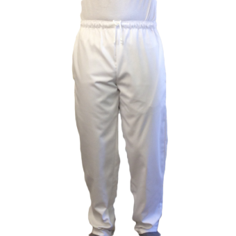 Unisex Hospital Trousers with Elasticated & Pull Cord Waist & back pocket, Made in England