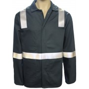 Warehouse Jacket - Flame Retardant with Reflective Tape & 3 Internal Pockets, Made in England