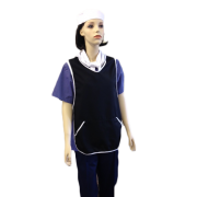 Tabard with side pockets - White Binding