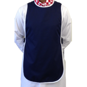 Tabard without pocket - White Piping, Made in England