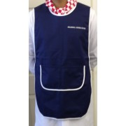 Tabard with half moon pockets