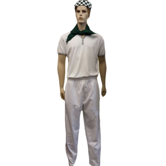 Chefs Unisex Trousers - Fully Elasticated Waist with pull cord and back pocket